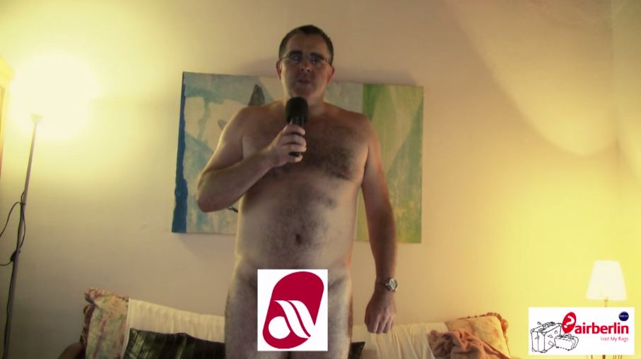 The Naked Air Berlin Guy!