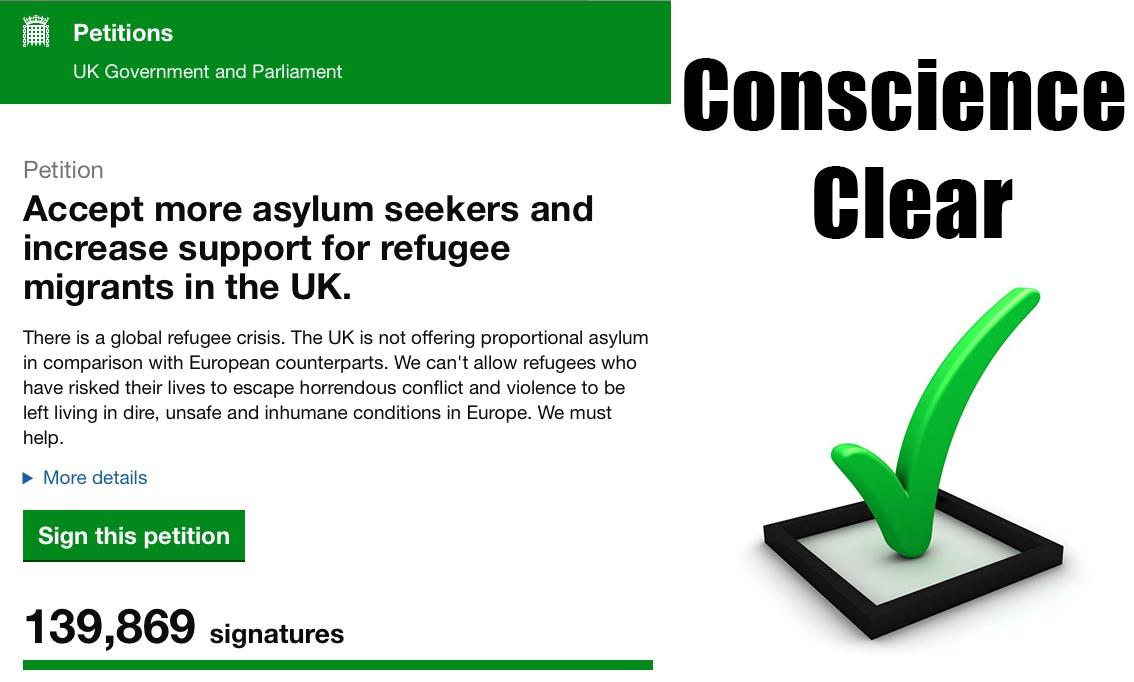 Petition Signed… Conscience Clear!